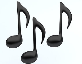 MUSIC NOTES icon 3D model