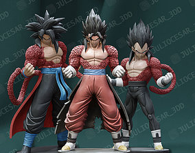 Dragon ball - Pack Goku Vegeta and Vegito TIME 3D model