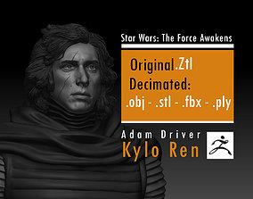 3D printable model Adam Driver - Kylo Ren - Ben Solo - 1