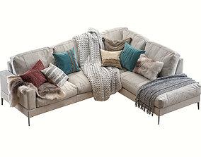3D model Capri sectional sofa