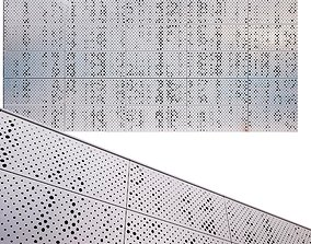 perforated metal panel N16 3D model