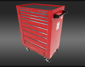 3D asset Rolling Tool Cabinet