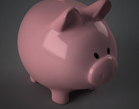 3D model Piggy bank cute