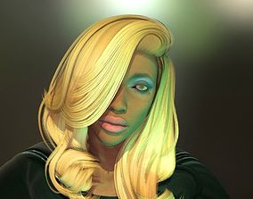 animated Realistic Brunette girl 3D