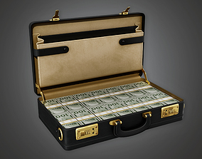 Cash Filled Briefcase BHE - PBR Game Ready 3D asset