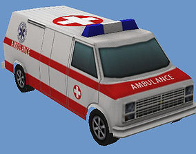 3D asset Ambulance Van