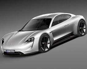 HQ LowPoly Porsche Mission E Concept 2015 3D model