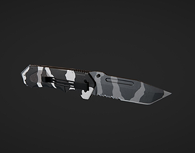 3D asset game-ready Hunting knife