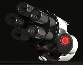 Antiaircraft gun impact 3D model