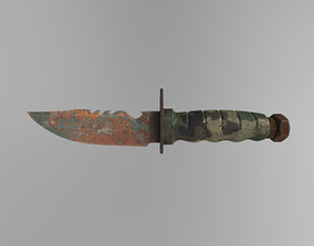 Saw Fish Knife Game-Ready Midpoly PBR 3D asset