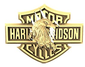 Harley-Davidson eagle 2 3D printable model