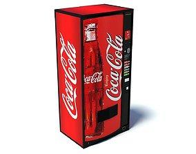 Coca Cola Vending Machine Low Poly 3D asset