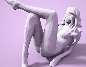 Girl Low poly Sculpture 3D printable model female
