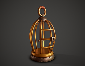 Stylized Bird Cage - Tutorial Included 3D asset