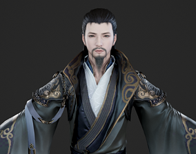 Ancient Chinese male 3D model 4
