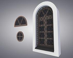 arched window 3D asset