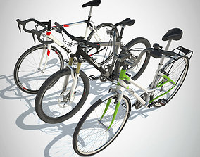 Bikes PACK with LOD 3D model