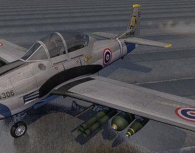 3D North American T-28 Trojan