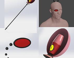 Alastor radio demon Hazbin Hotel monocle 3D print model 2