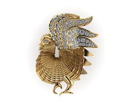 platinum jewelry chicken 3D printable model