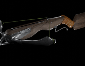 Crossbow Low-Poly 3D model