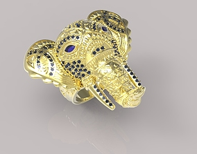 Elephant ring with stones 3D print model