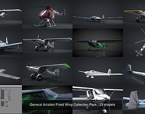 General Aviation Fixed Wing Collection Pack 3D