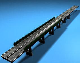 Highway viaduct 3D