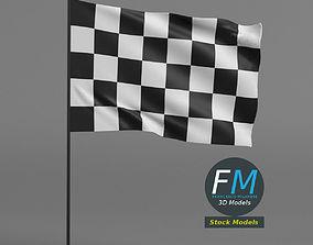Checkered racing flag 3D