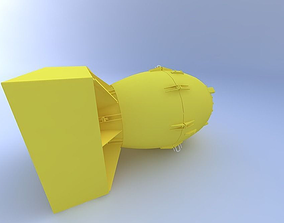 3D model Fat Man Atomic Bomb