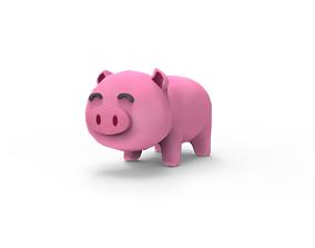 3D asset Pig - cartoon style