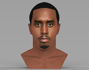 P Diddy bust ready for full color 3D printing