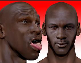 Michael Jordan 3d bust - 2 versions