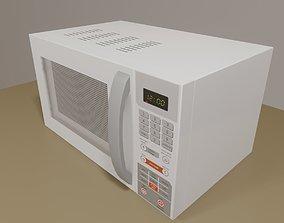 3D model White Microwave - Asset - Microondas Branco