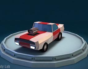 3D model Cartoon Racing Car