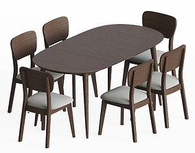 Dining Set 12 3D model furniture