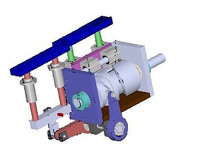 Cam mobile mechanism 3D