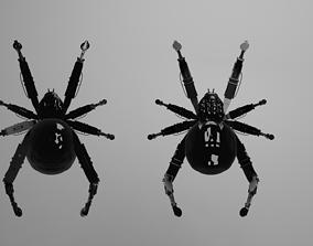 3D model mechanical blackwidow spider