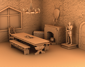 Home interior of the middle ages 3D printable model
