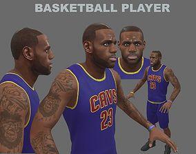 basketball-ball 3D model Basketball Player