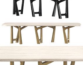 YBU table by Jean-Pierre Tortil 3D model