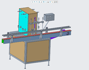 3D printable model Filling machine