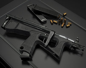 Russian modern submachine gun PP-2000 low-poly 3D rigged 1