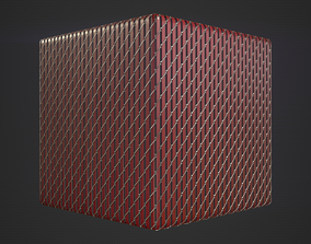 3D model realtime Chain Link Fence