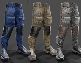 Tactical pants 3D asset