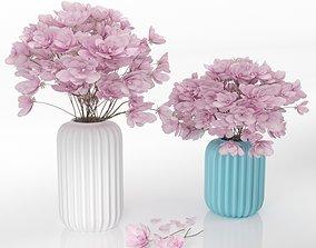 Flower magnolia 3D model