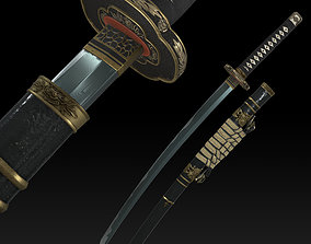 Katana Weapon Sword 3D asset