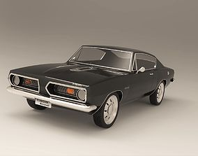 Plymouth Barracuda 1968 3D model