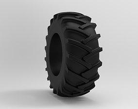 3D asset Tractor Tire - Tire 5