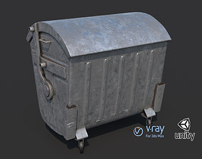 3D asset low-poly Garbage container